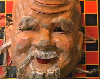 Vintage molded plastic Chinese Mask