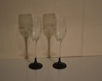 Chalkboard Champagne Flutes