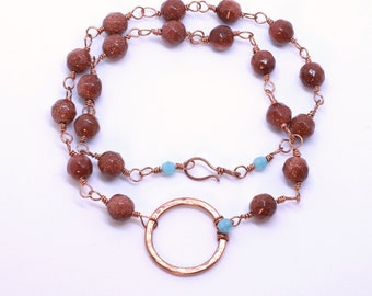 Copper Goldstone Necklace