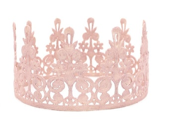 ELLE Lace Crown || Blush || Ready to Ship || FULL size lace crown || photography prop|| Toddler-Adult || WASHABLE