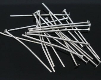 100 PCs Silver 50mm flat head pin / 5cm