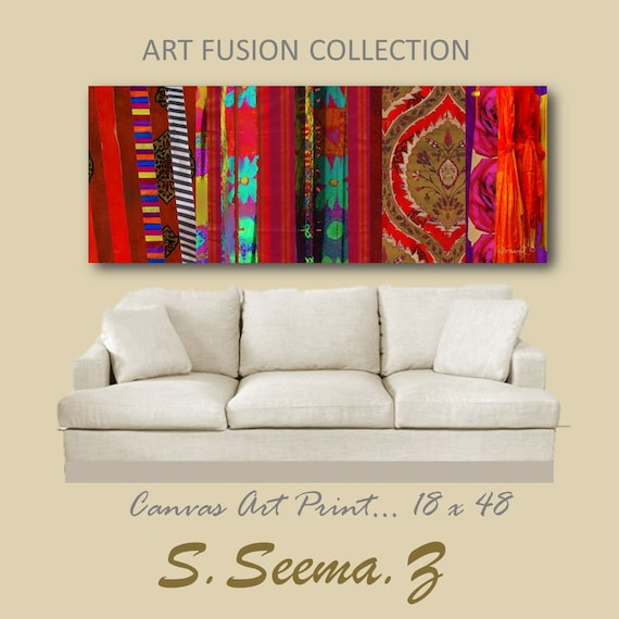 BOHO ETHNIC FUSION -  Large Canvas Print, Wall Decal, Middle Eastern, Living Room, Boho Decor, Mediterranean, Turkish, Morocco, Dubai