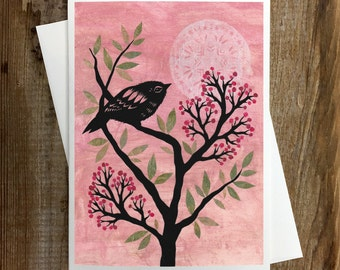 Follow The Evening's Call - Greeting Card