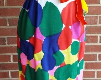 Vintage Sleeveless Floral Pattern Dress