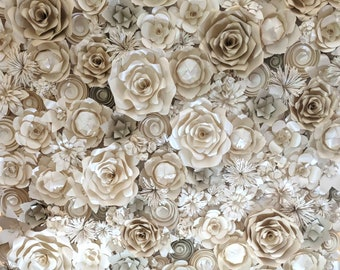 Flower back drop wedding pearl two tone Kits templetes patterns thick 7 different kits to achive this look.  easy and fun to do.