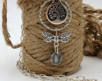 dangle necklace, charm necklace
