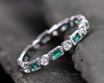 claddagh size diamonds emerald ring of set with large enhancers rings wedding etsy