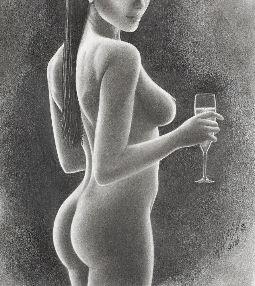 Drawings pencil Realistic nude