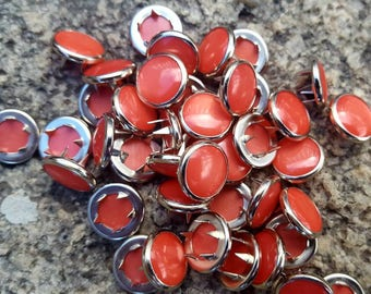 Coral Snaps, Guava Pearl Snap Fasteners, 12 mm Pearl Snaps, Western Snaps, Apricot Snaps, Peach Snaps, size 16 pearl snaps