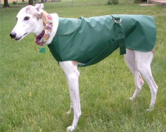 R1 Forest Green Greyhound Raincoat.  Free Shipping!
