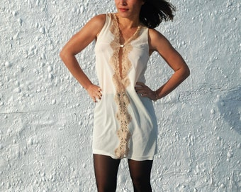 Vintage 1960s Emilio PUCCI for Formfit Rogers Champagne Nightgown S/M