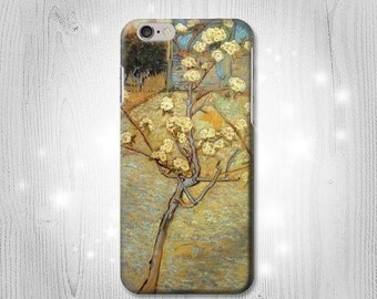 Van Gogh Letter Pear Tree Blossom Case iPhone X 8 8 Plus 7 6 5 SE Samsung Galaxy S8 S8+ S7 Edge S6 S5 Note J7 J3 A5 Asus Google Pixel HTC