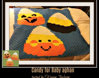 Candy for Baby Afghan, C2C Graph, Written Word Chart