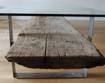 Glass Coffee Table. Reclaimed Wood Coffee Table. Metal Legs Coffee Table. Industrial Coffee Table. Modern Furniture. Industrial Furniture