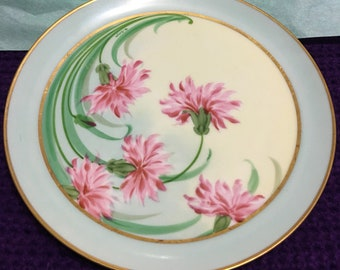 Early 1900s Haviland France plate signed by artist M Berger marked zenith