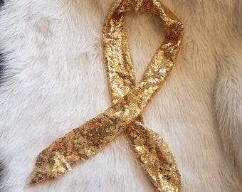 Dark gold scarf