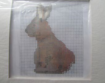 "Cross stitch Kit - model ""Bunny"" with passe partout"