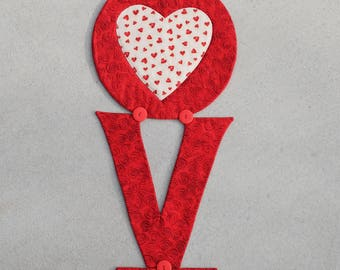 LOVE is the word table runner