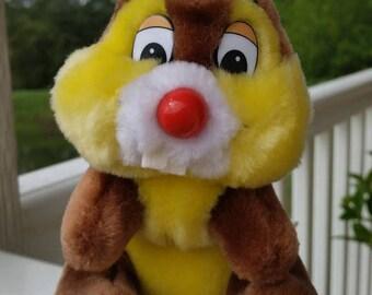 "Retro Plush ""Dale"" of Chip & Dale from Disneyland-Walt Disney 80's"