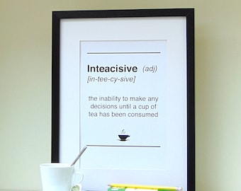 Dictionary Style Inteacisive Tea Print
