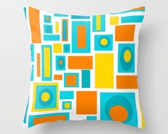 Modern Pillow Cover, Mid Century Modern Pillow Cover, Cool Pillow Cover, Retro Pillow Cover, Geometric Throw Pillow Cover,