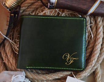mens wallet of Italian Tuscan leather