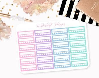 Pastel Weekly Habit Tracker Planner Stickers // Perfect for Erin Condren Vertical Life Planner