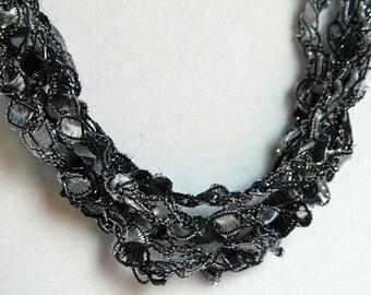 Little Black Dress - Crocheted Necklace