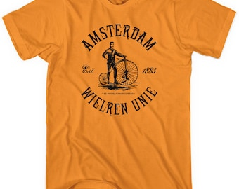 Amsterdam Bicycle Club T-shirt - Men and Unisex - Holland Cycling - XS S M L XL 2x 3x 4x - 4 Colors
