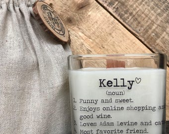 Personalized Friend Gift / Gift For Her / Gifts For Friends / Mother's Day Gift / Friend Birthday Gifts / Soy Candle / Friend Gift