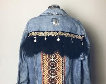 Bohemian Denim Jacket | ⤚DELILAH⤛