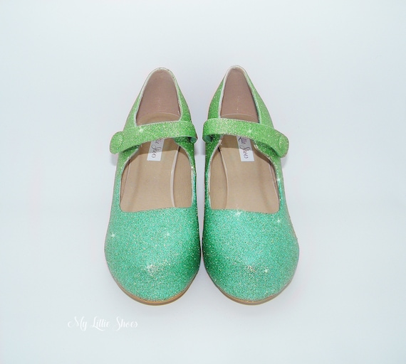 Heels Ankle Green Dance Glitter Mary Cruise Blue Low Wedding and Shoes Strap Low Shoes Shoes Party ~ Jane Heels Shoes ~ Bridal Glitter S114qv8