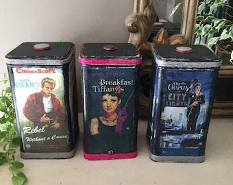 Box cinema - Janet Dean - Charlie Chaplin - Audrey Hepburn