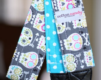 Skulls and Dots Reversible Camera Strap