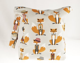 Fox Wet Bag -Fox and The Houndstooth Foxes Grey