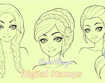 Braided Hairstyles (3 digital images)