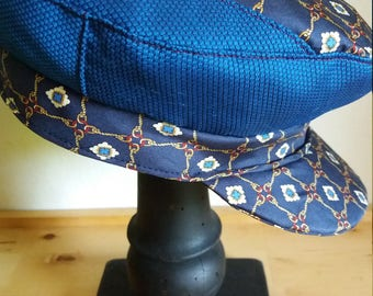 Fischerman/fiddler cap-fisherman's hat in silk