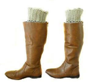 Plus Size Boot Cuff   Crochet Boot Cuff   Crochet Boot Topper   Handmade   Gray Boot Topper   Girly Boot Cuffs   Christmas Gift   Lace Cuff