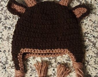 Deer Hat, Crochet Deer hat, Crochet hat with antlers, Child Deer hat, Baby Deer Hat, Newborn Deer hat