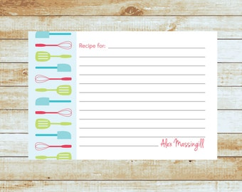 Personalized Recipe Cards / Kitchen Utensils