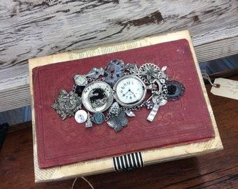 Steampunk Library Jewelry Box