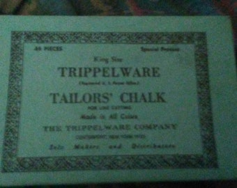Vintage tripleware tailors chalk brand new in box Centerport New York the tripleware company 48 pieces