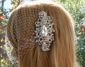 White Wedding Veil, Ivory Wedding Veil, Bridal Wedding Veil, Birdcage Wedding Veil,Birdcage Bridal Veil,Tulle Bridal Veil,Tulle Wedding Veil