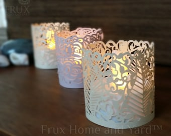 24 Flameless LED Tea Lights With Decorative Wraps