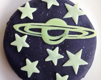 Space Dough with Glow Stars. Peppermint or Lavender scented.