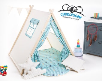Children teepee tent, tipi playhouse, forest tent, child teepee, best birthday gift, kids tipi, kids tent, kids teepee, kid room decor