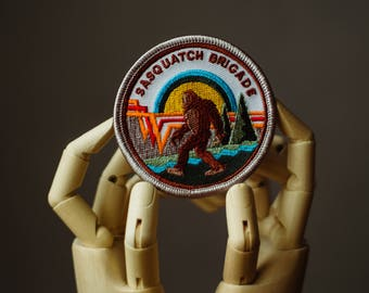 Bigfoot Patch | Sew on | Embroidery | Patches for Jackets | Sasquatch patch | Tumblr Patch | Back Patch | Crypto Patch | Cute Patch | Custom