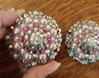 """Gray, light pink and pearls burlesque pasties nipple tassels nipple covers jewelry: """"Mon Chérie!"""""""