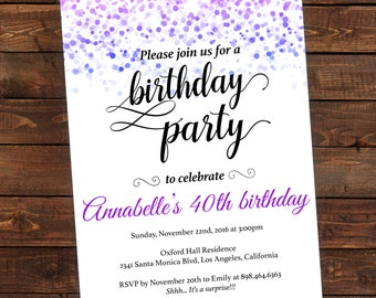 party invitation download