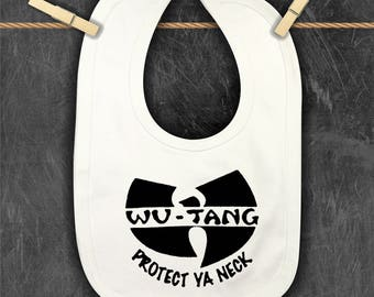 EXCLUSIVE | Wu-Tang Bib | Protect Ya Neck | Wu-tang Is For The Children | Pun Intended | Baby Bib | Hip Hop Nation | 90's Baby Bib | GIFTS